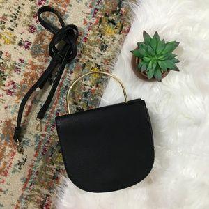 AND • NEW Vegan Leather Black Crossbody Bag